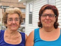 Laura Lamont (right) with her mother, Carmela Saulle.